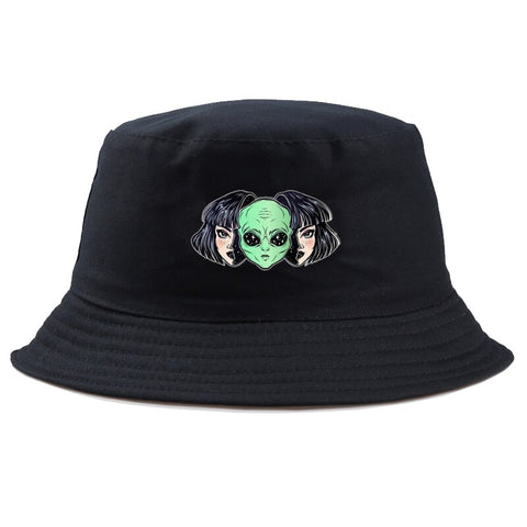 Alien in Head Hat Black