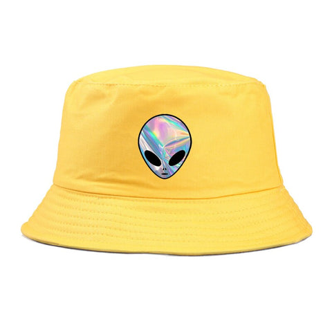 Trippy Alien Hat Yellow