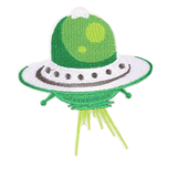 Green UFO Patch
