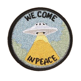 We come ine Peace UFO Patch