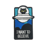Cat UFO Alien Patch