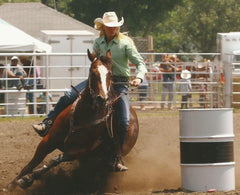 Kristin at a barrel racing event.