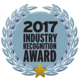 Wrapsit received one of Pet Age Magazine's 2017 Industry Recognition Award blue logo with garland and gold star.