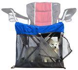 American Eskimo dog in Wrapsit™ slipcover crate.