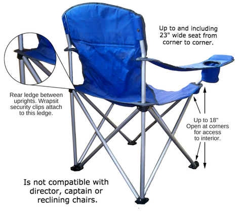 Folding camping chairs, quad chair, camping furniture, camp furniture, collapsible lawn chairs Wrapsit fits basic scissor leg folding outdoor chair.