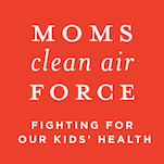 MOMS clean air FORCE red and white logo.