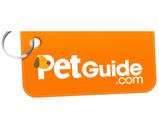 Pet Guide orange and white dog tag.