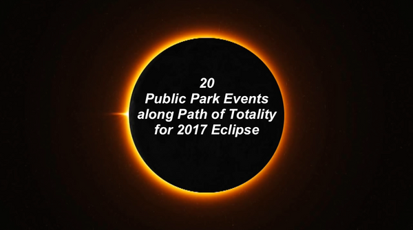 20 Public Park Events along the path of totality for 2017 Eclipse by Lisa Bishop of LeisureEase, LLC Wrapsit slipcover crate.