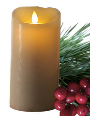 pet holiday safety Flameless candle with berries and evergreen needles