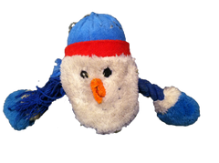 Pele's favorite stuffed snowman toy.