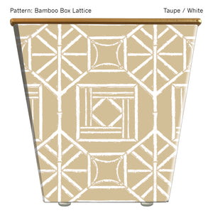 Standard Cachepot Container: Bamboo Box Lattice
