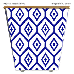 Load image into Gallery viewer, Standard Cachepot Container: Ikat Diamond