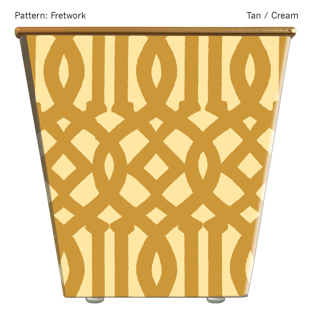 Load image into Gallery viewer, Standard Cachepot Container: Fretwork