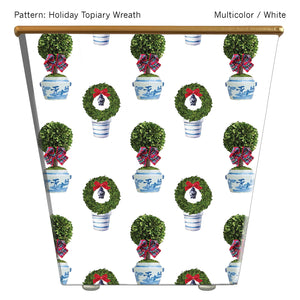 Standard Cachepot Container: Holiday Topiary Wreath
