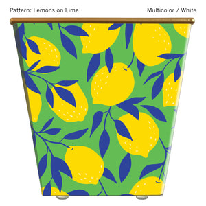 Standard Cachepot Container: Lemons on Lime