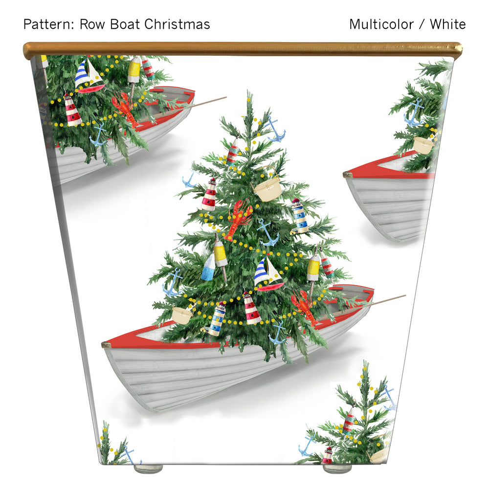 Standard Cachepot Container: Row Boat Christmas