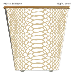 Large Cachepot Container: Snakeskin