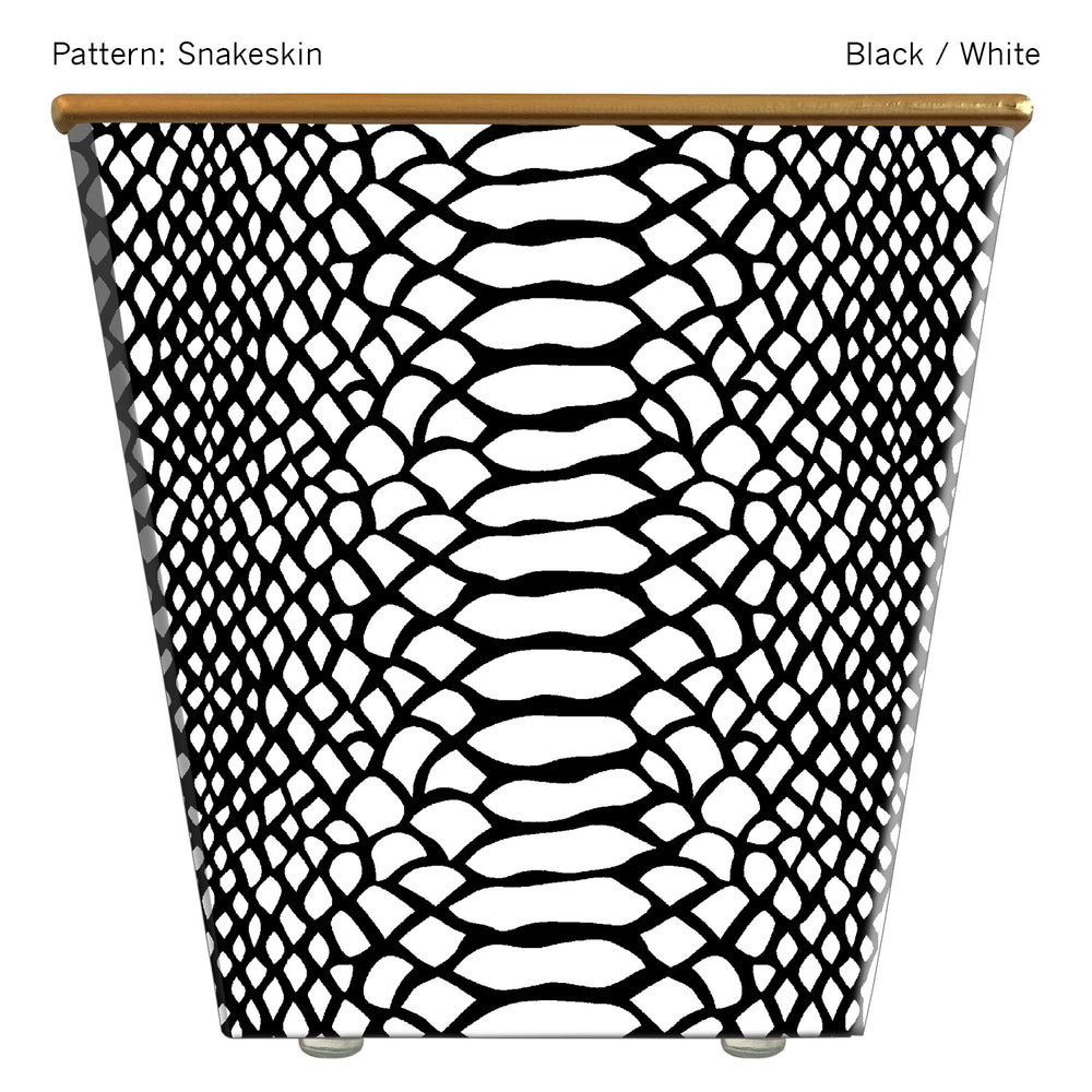 Load image into Gallery viewer, Large Cachepot Container: Snakeskin