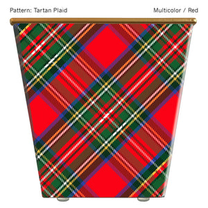 Load image into Gallery viewer, Standard Cachepot Container: Tartan Plaid