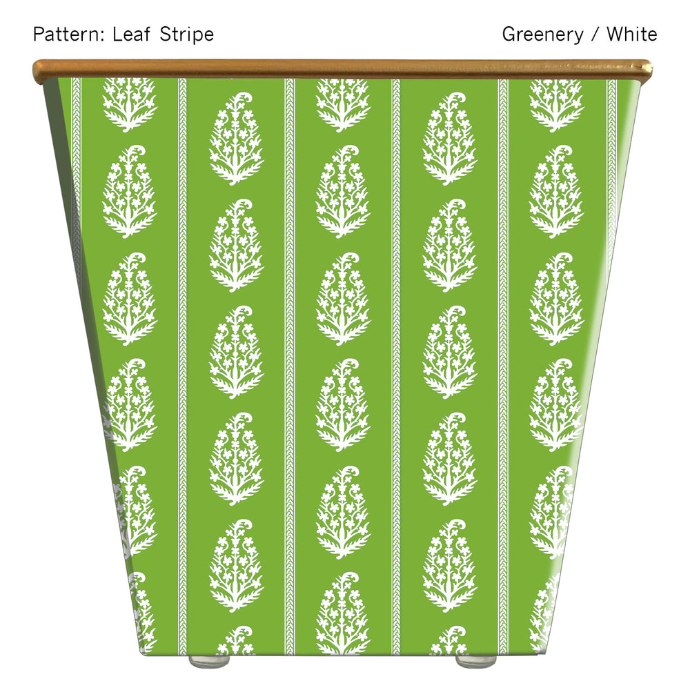 Load image into Gallery viewer, Standard Cachepot Container: Leaf Stripe