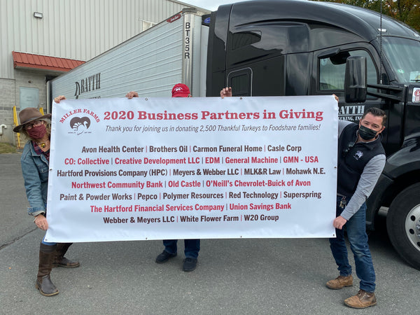 thankful turkey 2020 business partners in giving