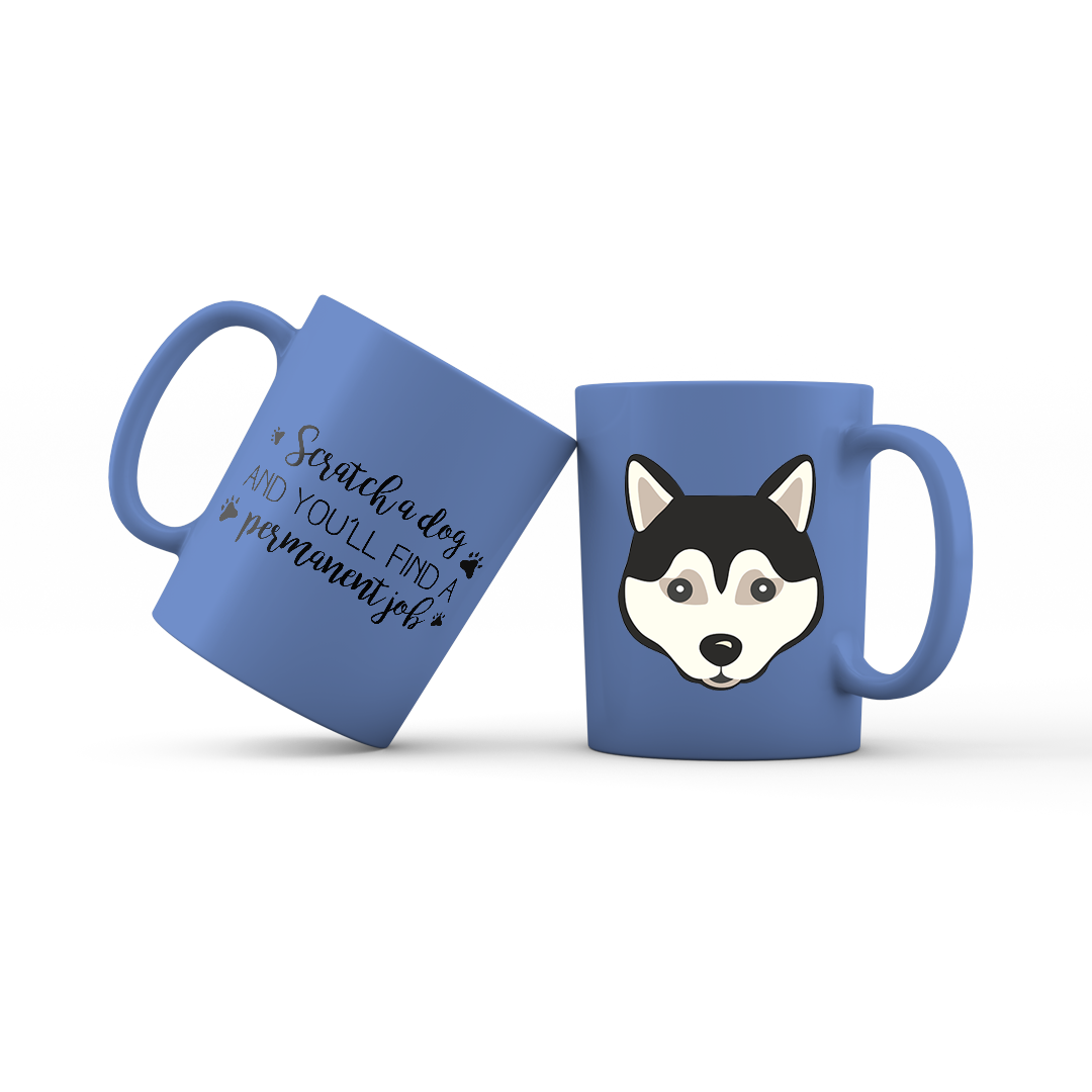 Black Husky Coffee Mug