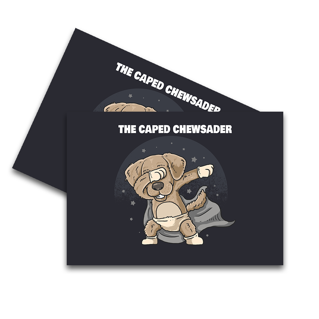 Caped Chewsader Feeding Mat