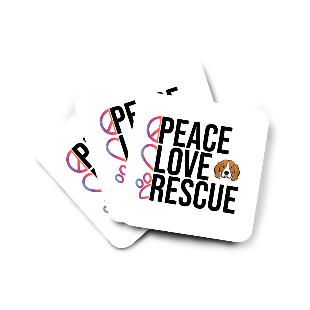 Peace Love Rescue Coasters