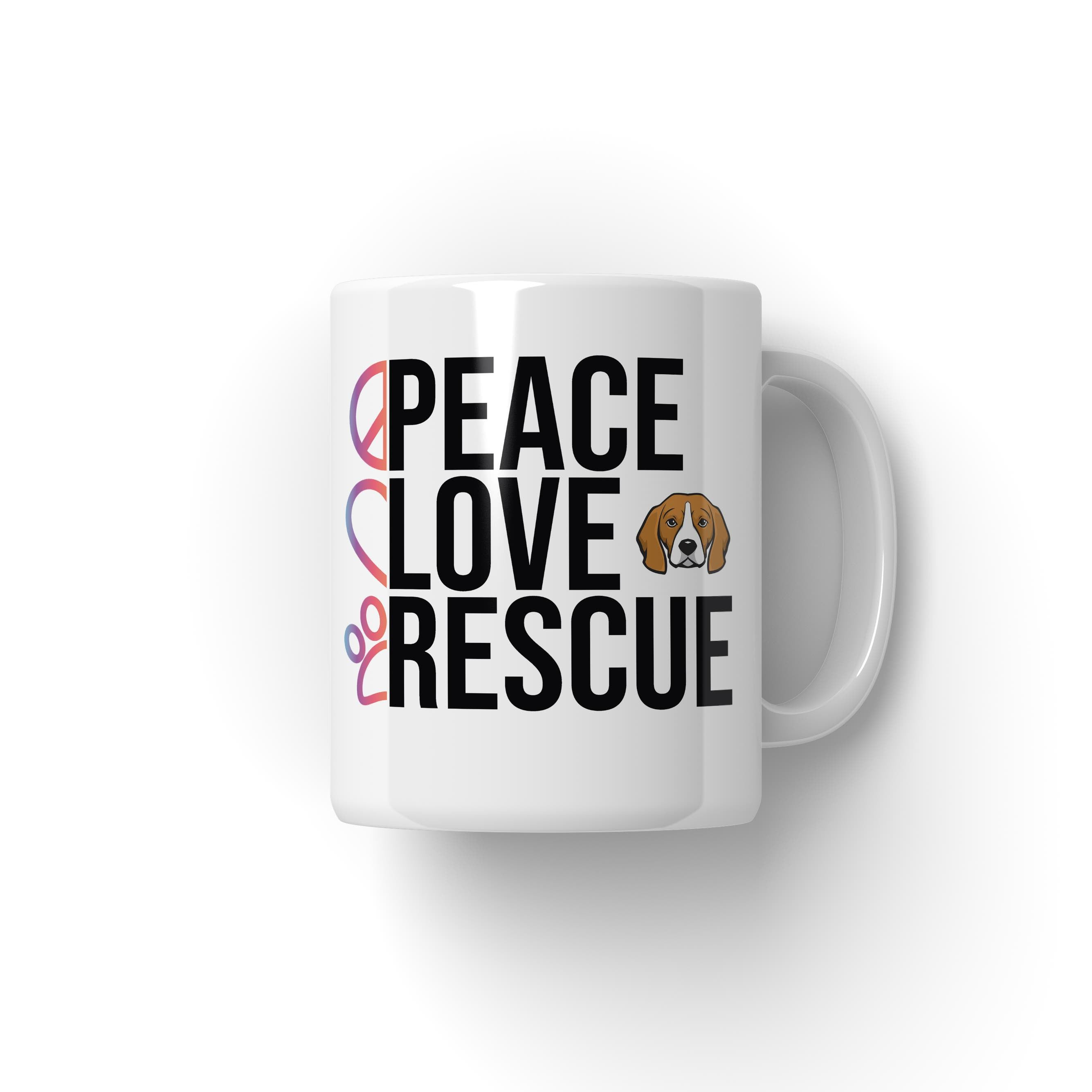 Peace Love Rescue Coffee Mug