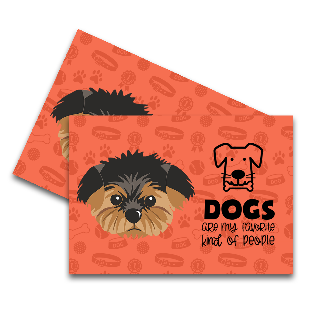 Yorkshire Terrier Feeding Mat (Set Of Two)