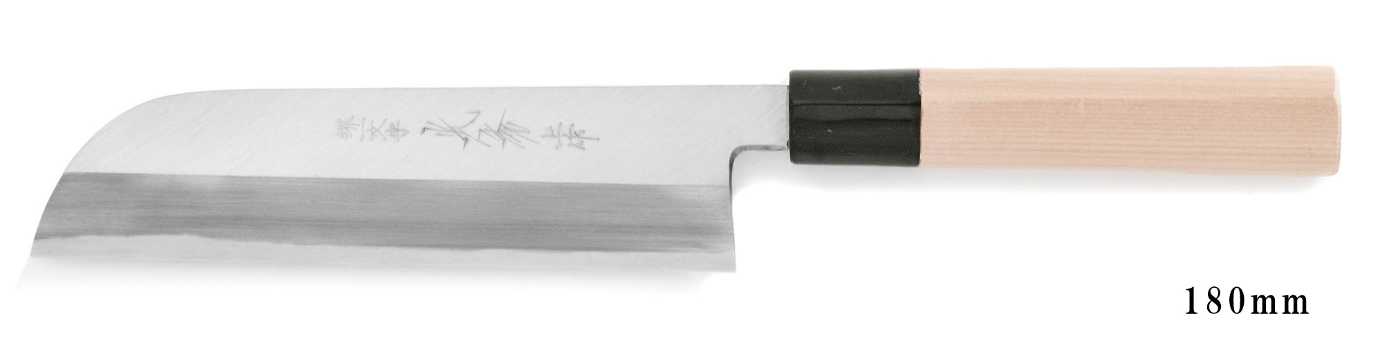 White Steel Kasumi Kama Usuba Knife left-hander 180mm