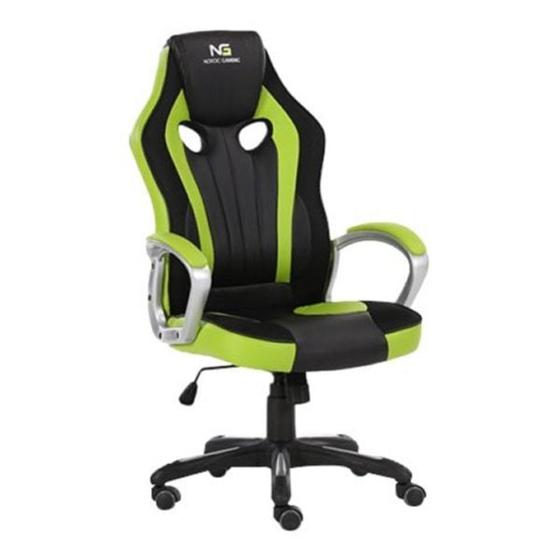 Nordic Gaming Challenger Gamer Stol. Sort/Grøn.