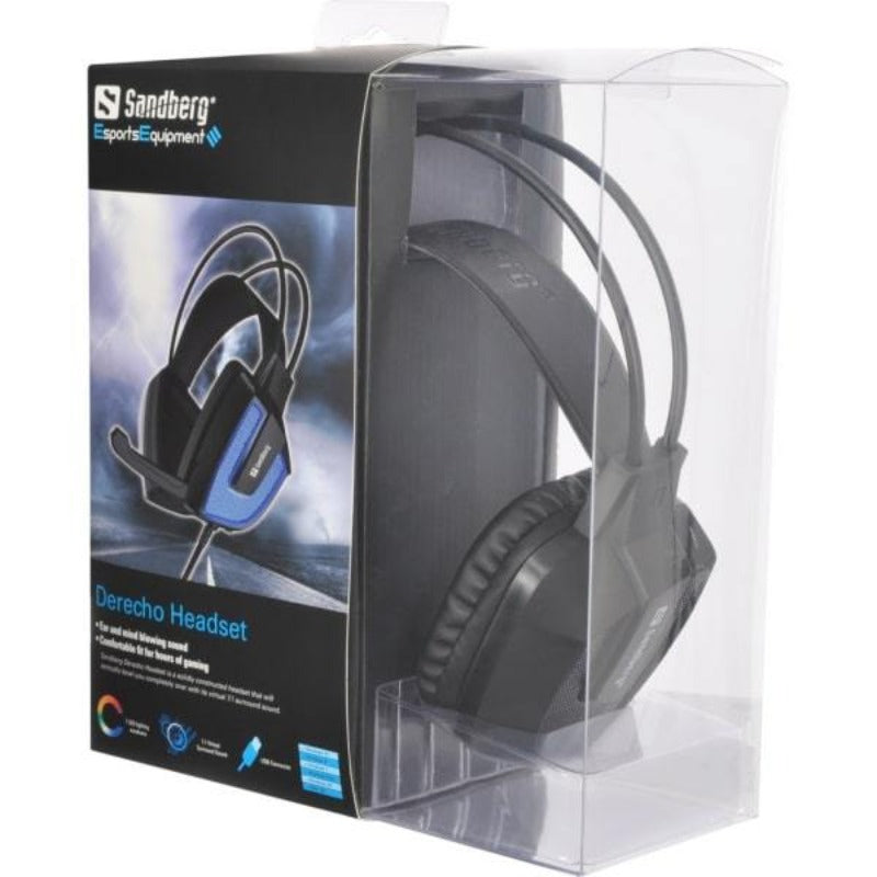 Sandberg Derecho Gaming Headset med 7.1 surround og LED lys.