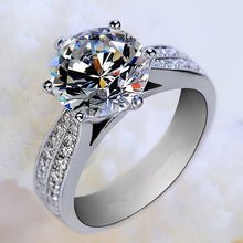 Load image into Gallery viewer, Hot Sale Zircon Inlaid Ring Luxury Silver Plated Alloy Finger Ring Jewelry
