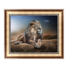Load image into Gallery viewer, Blue Lion 5D Diamond Embroidery Painting Cross Stitch DIY Craft Home Decor MOH