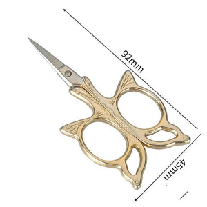 Butterfly Scissors Stainless Steel Household Cross-stitch Scissors Gold-plated Manicure Scissors