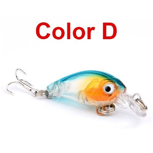 JACKFISH 1Pcs 4.5cm 4g Fishing Lure Hard Bait Minnow Fishing Lure Bass Crankbait Swimbait Trout Crank Baits with 10# hook Tackle