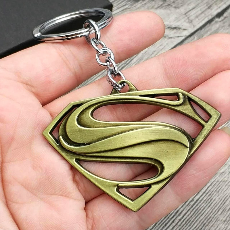 Superman Keychain Superhero S Logo Zinc Alloy Key Ring Key Chain For Fans Fashion Jewelry Accessories