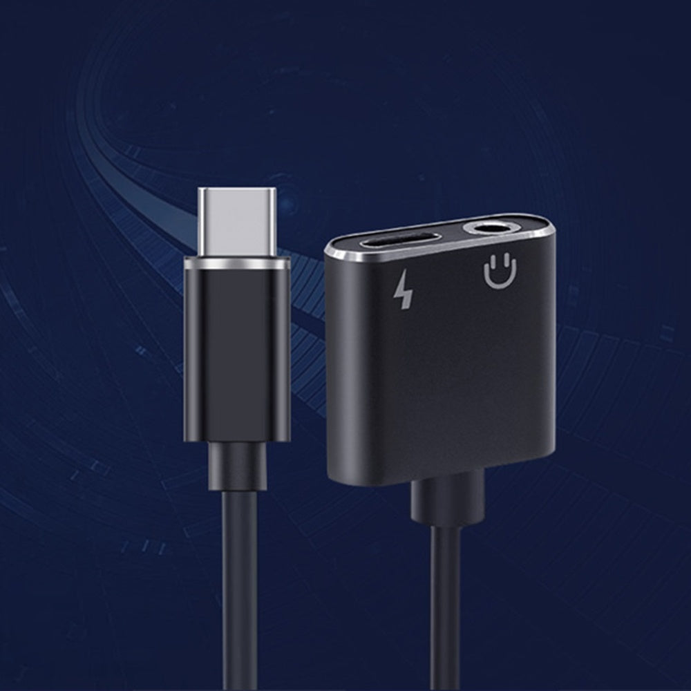 2 in 1 Type C to 3.5mm Audio Headphone Adapter Charging Cable For Xiaomi Samsung Motorola Huawei ZTE