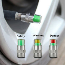 Load image into Gallery viewer, New Arrival 4PCS/set Air Warning Alert Tire Valve Pressure Sensor Monitor Tyre Cap Indicator For Auto Car New Universal Car Use
