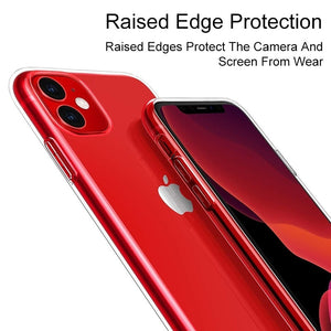 Transparent Silicone Phone Case For Iphone 11 Ultra Thin Clear Back Cover Phone Shell For Iphone 11/11PRO/11 Pro Max/X/XSMAX/8/8PLUS/7/7PLUS/6/6PLUS