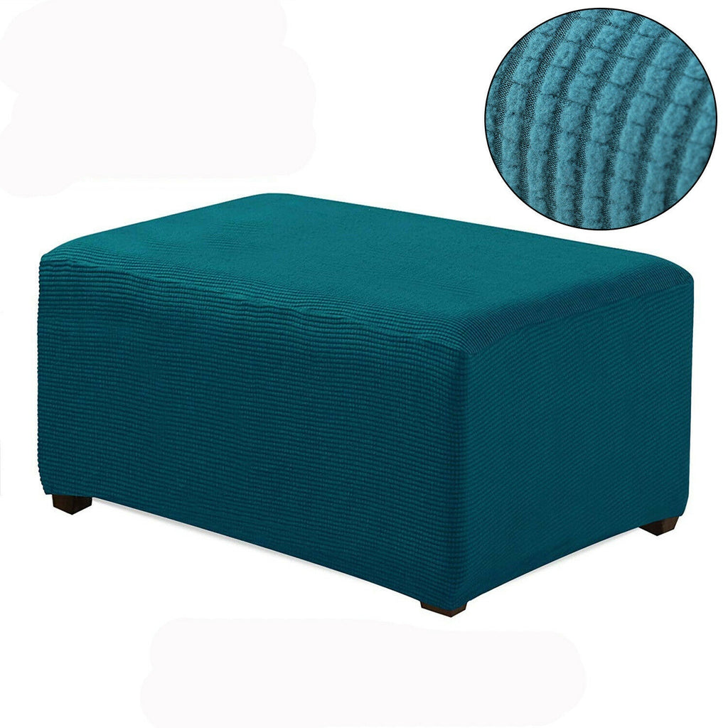 8 Colors Elastic Pedal Cover Stretch Storage Ottoman Slipcover Rectangle Footstool Sofa Cover For Living Room