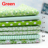 9Colors Quilting Bundle Patchwork handmade Sewing Crafts Cotton Fabric Diy Scrapbook (Size:25x25cm)