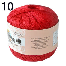 Load image into Gallery viewer, 50g/ball Mercerized Crochet Thread Sewing Thread Lace Cotton Yarn Hand Knitting Cotton Cord DIY