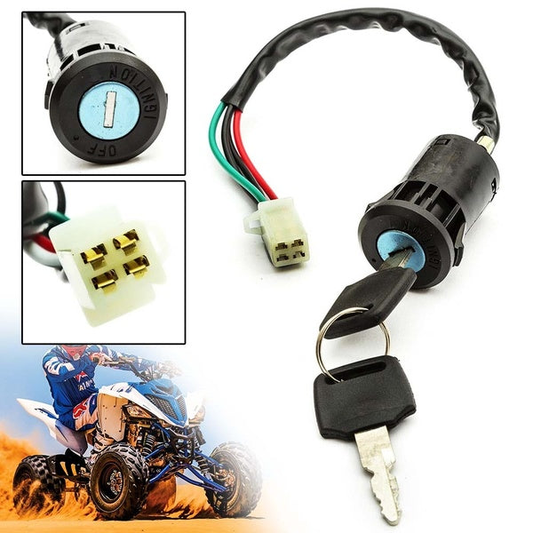 Ignition Key Switch 4 Pin ON OFF For 110cc 125cc 140cc Pit Dirt Quad Bike