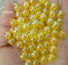 Load image into Gallery viewer, 8mm 100pcs AB Color Crystal Glass Beads for Jewelry Making Faceted Clear DIY Beads Loose Jewerly,earring ,necklace ,Hair Hoop DIY