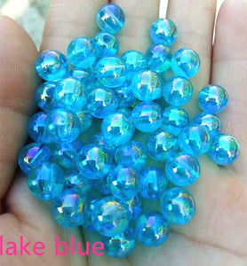 8mm 100pcs AB Color Crystal Glass Beads for Jewelry Making Faceted Clear DIY Beads Loose Jewerly,earring ,necklace ,Hair Hoop DIY