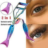 1PC 2 in 1 Multifunctional Portable Eye Lashes Curling Clip Cosmetic Makeup Tools  Accessories