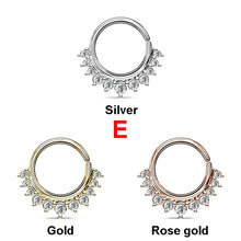 Load image into Gallery viewer, Punk Nose Ring Hoops 16G Septum Ring Daith Earrings Piercing Body Jewelry (1pcs)