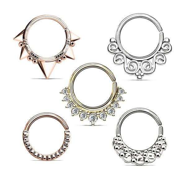 Punk Nose Ring Hoops 16G Septum Ring Daith Earrings Piercing Body Jewelry (1pcs)